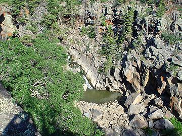Kolob Creek falls pool